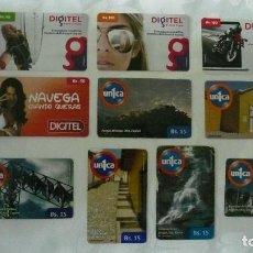 Tarjetas telefónicas de colección: 10 TARJETAS DE TELEFONO DE VENEZUELA USADAS LOTE 6. Lote 140846406