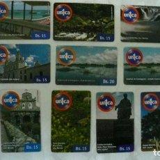 Tarjetas telefónicas de colección: 10 TARJETAS DE TELEFONO DE VENEZUELA USADAS LOTE 8. Lote 140846718