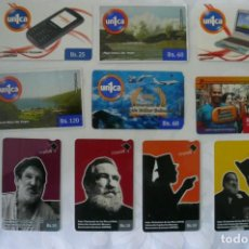 Tarjetas telefónicas de colección: 10 TARJETAS DE TELEFONO DE VENEZUELA USADAS LOTE 12. Lote 140847566