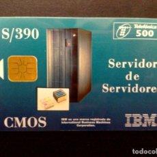 Tarjetas telefónicas de colección: ESPAÑA:P-132:TARJETA TELEFONICA,CMOS-I.B.M.,500 PTA.,TIRADA 5.000 EX,(05/95) DESCRIPCIÓN. Lote 142672270