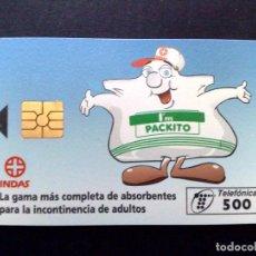 Tarjetas telefónicas de colección: ESPAÑA:P-174:TARJETA TELEFONICA,PACKITO,500 PTA.,TIRADA 9.100 EX,(01/96) DESCRIPCIÓN. Lote 142706074