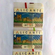 Tarjetas telefónicas de colección: COLECCIÓN DE 3 TARJETAS TELEFONICAS DE ALICANTE,NUEVAS CON PRECINTO ORIGINAL (DESCRIPCIÓN). Lote 142751670