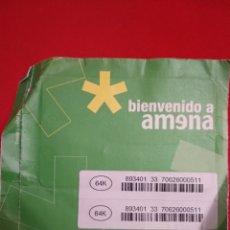 Tarjetas telefónicas de colección: TARJETA AMENA SIN USAR AÑOS 2000 A ESTRENAR. Lote 142996626