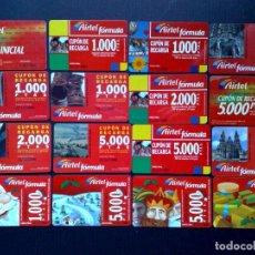 Tarjetas telefónicas de colección: LOTE DE 16 TARJETAS DIFERENTES-CUPONES DE RECARGA DE AIRTEL.. Lote 143891402