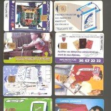 Tarjetas telefónicas de colección: 10 TARJETAS DE FRANCIA DIFERENTES LOTE 2. Lote 146991010