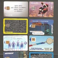 Tarjetas telefónicas de colección: 10 TARJETAS DE FRANCIA DIFERENTES LOTE 4. Lote 146991694