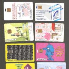 Tarjetas telefónicas de colección: 10 TARJETAS DE FRANCIA DIFERENTES LOTE 6. Lote 146992770