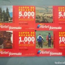 Cartões de telefone de coleção: 4 TARJETAS DE RECARGA DE AIRTEL. Lote 147097860