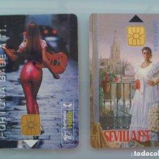 Tarjetas telefónicas de colección: LOTE DE 2 TARJETAS TELEFONICAS : CARTEL FERIA DE SEVILLA 1997 Y TABACO FORTUNA. Lote 147269302