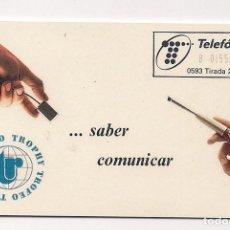 Tarjetas telefónicas de colección: TARJETA TELEFONICA ESPAÑA - TROFEO TROPHY - CUESTA TAN POCO - CP-019. Lote 148163222