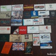 Tarjetas telefónicas de colección: LOTE DE 30 TARJETAS DE VISITA DE BARES, HOTELES, RESTAURANTES. Lote 150659646