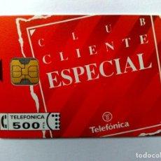 Tarjetas telefónicas de colección: ESPAÑA:P-008*:TARJETA TELEFONICA (500 PTA) CLIENTE ESPECIAL,T.6.000 EX.,AÑO 1992,NUEVA (DESCRIPCIÓN). Lote 151945542