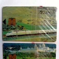 Tarjetas telefónicas de colección: ESPAÑA:P-055/056:TARJETAS TELEFONICAS (100 PTA)AVE-CERCANIA,T.3.000 EX.,AÑO 1994,NUEVAS-DESCRIPCIÓN). Lote 151962934