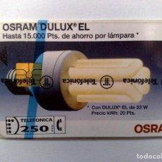 Tarjetas telefónicas de colección: ESPAÑA:P-016:TARJETA TELEFONICA (250 PTA) OSRAM.,T.6.000 EX.,AÑO 1993,NUEVA-DESCRIPCIÓN). Lote 151965082