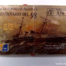 Tarjetas telefónicas de colección: ESPAÑA:P-291:TARJETA TELEFONICA (250 PTA) FILATELIA'97, T.6.000 EX.,AÑO 1997,NUEVA-DESCRIPCIÓN). Lote 151967562