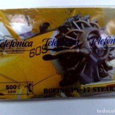 Tarjetas telefónicas de colección: ESPAÑA:P-406:TARJETA TELEFONICA (500 PTA) BOEING PT-17, T.7000 EX.,AÑO 1999,NUEVA-DESCRIPCIÓN). Lote 151969614