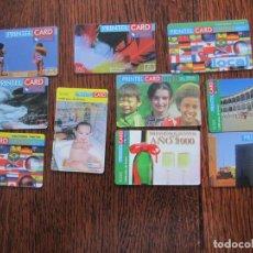 Tarjetas telefónicas de colección: 10 TARJETAS DE PRINTEL CARD. Lote 152482258