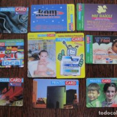 Tarjetas telefónicas de colección: 10 TARJETAS DE PRINTEL CARD II. Lote 152482346