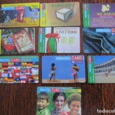 Tarjetas telefónicas de colección: 10 TARJETAS DE PRINTEL CARD III. Lote 152482434