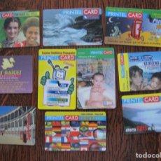 Tarjetas telefónicas de colección: 10 TARJETAS DE PRINTEL CARD IV. Lote 152482530