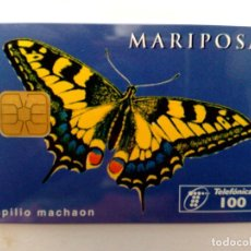 Tarjetas telefónicas de colección: TARJETA TELEFONICA:P-187: MARIPOSAS,MACAON (100 PTA.)TIRADA 5.000EX.,SERIE EUROPA.(03/96). Lote 153523082