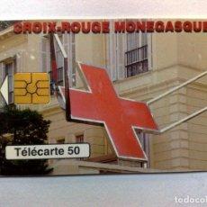 Tarjetas telefónicas de colección: TARJETA TELEFONICA,50 ANIVERSARIO DE LA CRUZ ROJA DE MONACO,T.50.800 EX.,MONACO TELECOM.. Lote 155206358