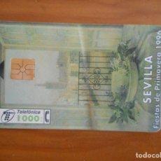Tarjetas telefónicas de colección: TARJETA TELEFÓNICA. SEVILLA, FIESTAS DE PRIMAVERA 1996. 1000 PESETAS. Lote 157095542