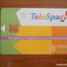 Tarjetas telefónicas de colección: TARJETA TELEFÓNICA. TELESPACIO. 1000 PESETAS. BUEN ESTADO. Lote 157098410