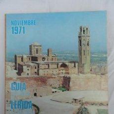 Tarjetas telefónicas de colección: GUÍA TELEFÓNICA PROVINCIA DE LÉRIDA LLEIDA. AÑO 1971.. Lote 225864330