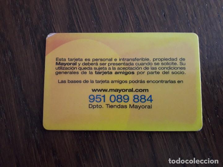 Tarjetas telefónicas de colección: tarjeta de publicidad, amigos de mayoral. - Foto 2 - 159868350