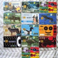 Tarjetas telefónicas de colección: LOTE DE 13 TARJETAS TELEFÓNICAS. Lote 159930178