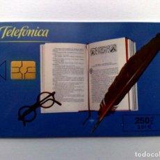 Cartes Téléphoniques de collection: ESPAÑA:P-433:TARJETA TELEFONICA,FERIA DEL LIBRO (250 PTA) T.4.100 EJEMPLARES, 05/2000. Lote 161325806