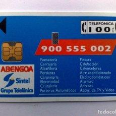 Tarjetas telefónicas de colección: TARJETA TELEFONICA:P-004** ABENGOA (100 PTA.) T.6.000 EX.,07/92,NUEVA SIN USAR 07/92 (DESCRIPCIÓN). Lote 162444050