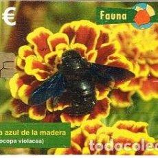Tarjetas telefónicas de colección: TARJETA TELÉFONO - FAUNA IBÉRICAI: ESCARABAJO RINOCERONTE - AÑO 2010. Lote 162515682