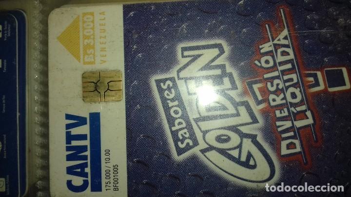 Tarjetas telefónicas de colección: tarjeta telefonica de empresa refrescos sabores golden - Foto 2 - 164379794