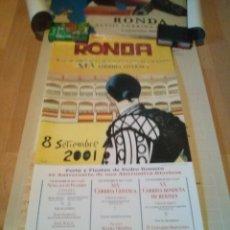 Tarjetas telefónicas de colección: LOTE DE 4 CARTELES DE CORRIDAS GOYESCA DE RONDA DEL 1998, 2001, 2002 Y 2004. Lote 165786658