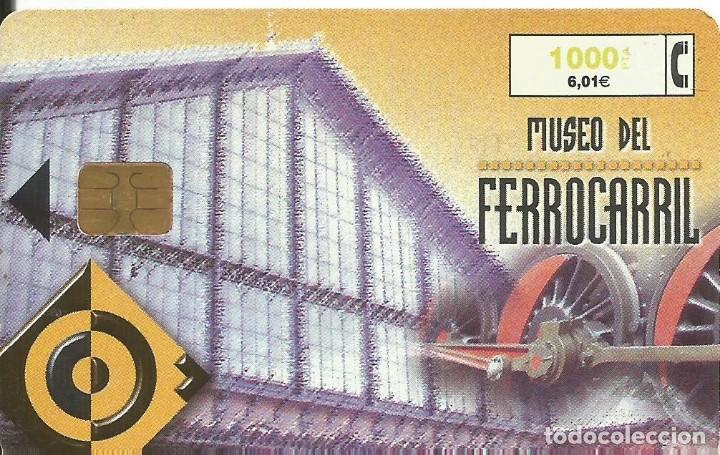 TARJETA TELEFÓNICA. MUSEO DEL FERROCARRIL. USADA (Coleccionismo - Tarjetas Telefónicas)