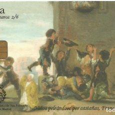 Tarjetas telefónicas de colección: TARJETA TELEFÓNICA. GOYA . USADA Nº2/6. Lote 166850822