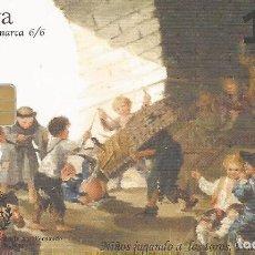 Tarjetas telefónicas de colección: TARJETA TELEFÓNICA. GOYA . USADA Nº6/6. Lote 166850906
