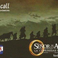 Tarjetas telefónicas de colección: TARJETA TELEFÓNICA. TEMA CINE. SEÑOR DE LOS ANILLOS COMUNIDAD DEL ANILLO. USADA.. Lote 166851382
