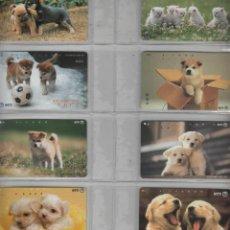 Cartes Téléphoniques de collection: TARJETAS TELEFONICAS.-LOTE DE 8 TARJETAS -TEMA PERROS. Lote 169907824