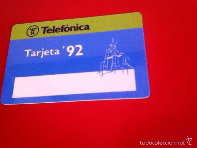 TARJETA TELEFÓNICA . TARJETA '92 BMP 002 (Coleccionismo - Tarjetas Telefónicas)