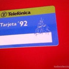 Tarjetas telefónicas de colección: TARJETA TELEFÓNICA . TARJETA '92 BMP 002. Lote 170300418