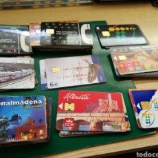 Tarjetas telefónicas de colección: LOTE DE 60 TARJETAS TELEFÓNICAS ESPAÑOLAS ANTIGUAS USADAS. PELÍCULAS, ALBACETE, ANDALUCÍA... Lote 170542322