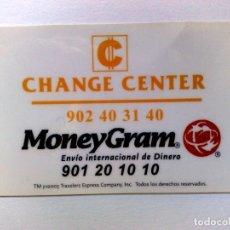 Tarjetas telefónicas de colección: TARJETA TELEFONICA PREPAGO,CHANGE CENTER DE MONEYGRAM. Lote 174000378