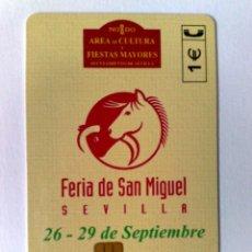 Cartões de telefone de coleção: ESPAÑA:P-504:TARJETA TELEFONICA (1€) FERIA DE SAN MIGUEL,SEVILLA 2002 T.5.400 EJEMPLARES,EXP. 05/02. Lote 174207485