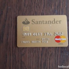 Tarjetas telefónicas de colección: TARJETA VISA MASTER CARD DÉBITO BANCO SANTANDER. Lote 174535824