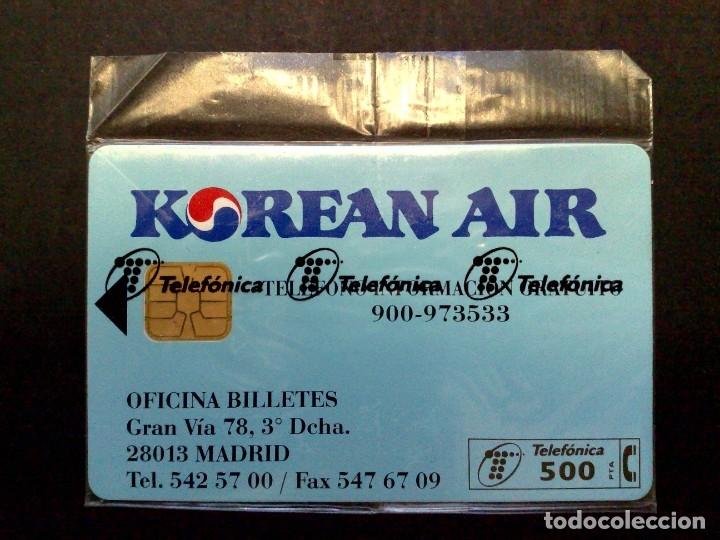 TARJETA TELEFONICA;P-145-A: KOREAN AIR,¡¡¡ CHIP GD-3 !!! (500 PTA.) NUEVO CON PRECINTO 08/95 (RARO) (Coleccionismo - Tarjetas Telefónicas)
