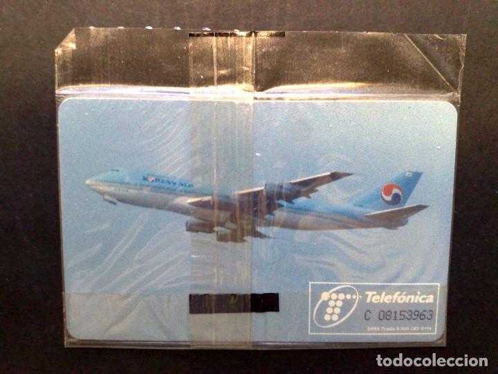 Tarjetas telefónicas de colección: TARJETA TELEFONICA;P-145-A: KOREAN AIR,¡¡¡ CHIP GD-3 !!! (500 PTA.) NUEVO CON PRECINTO 08/95 (RARO) - Foto 2 - 175164033