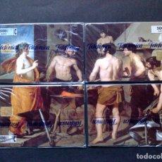 Cartões de telefone de coleção: PUZZLE 4 TARJETAS TELEFÓNICAS (500 PTA.) FRAGUA DE VULCANO,T.1.200 EX, PRECINTADAS (03/01) DESCRIPCI. Lote 175164214